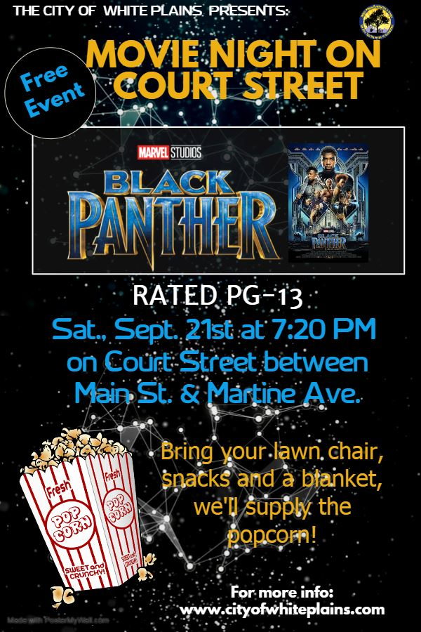 2019 Movie Night on Court Street black Panther