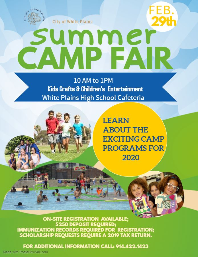 Camp Fair flyer for feb 29 2020 event