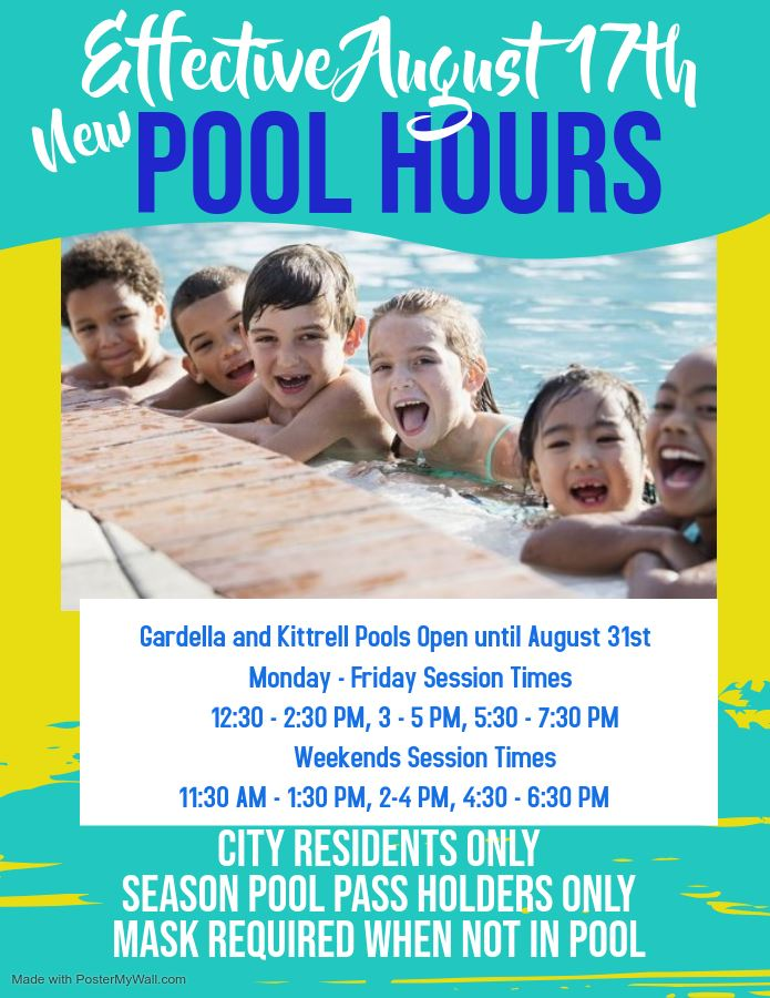 pool hours with kids