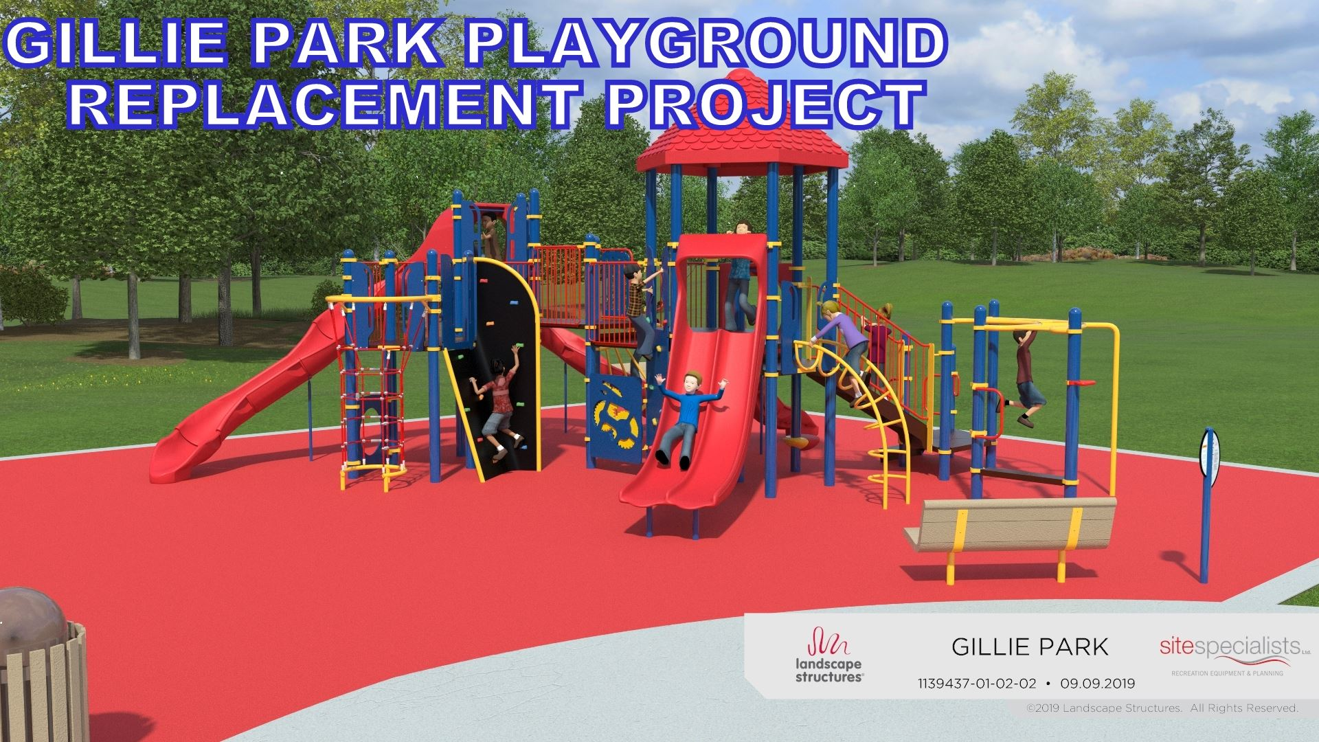 gillie park playground rendering 5-12 yr olds