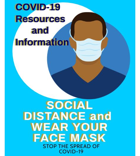 Covid Resources and Information spotlight wear a mask